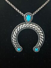 Carolyn Pollack Enhancer Bale Pendant featuring Sleeping Beauty Turquoise. 925SS