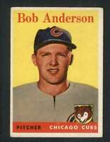 1958 Topps #209 Bob Anderson VGEX RC Rookie Cubs 71606