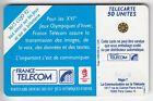 VARIETE TELECARTE FRANCE .. 50U F222 SC4 T6 SKI ACRO 0 ENVERS GE.34320 TBE C.8€