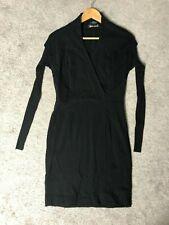 ETCETERA Little Black Dress Knit Sheath Long Sleeve Structured Bodycon sz 2