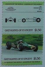 1966 BRABHAM REPCO bt-19 voiture timbres (les dirigeants du monde / auto 100)