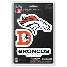 Denver Broncos Stickers Die-Cut Decal Auto Stickers 3-Pack