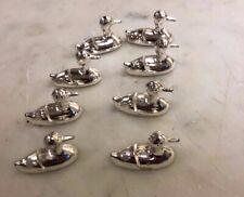 8 x placename holders (Silver metal Ducks)