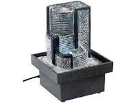 """Zimmerbrunnen """"Himmelstreppe"""" mit Pumpe und LED, ca. 18 cm"""