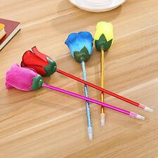 2PCS/Lot Creative Rose Flower Ballpoint Pen School Writing Supplies Stationery