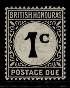 BRITISH HONDURAS GV SG D1, 1c black, LH MINT. ORDINARY PAPER