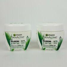 2 Pack Garnier SkinActive Balancing 3 in 1 Moisturizer Day Night Mask Green Tea