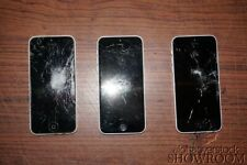 Lot of 3 Used & Untested iPhone 5c White Model A1532 ME505LL/A For Parts/Repairs