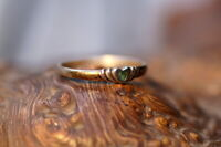 ausgefallener Ring 925er Sterling Silber mit kl. Smaragd Unikat Silberschmiede