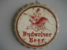 Sign Metal with Shaped Badge Budweiser Beer Nº1