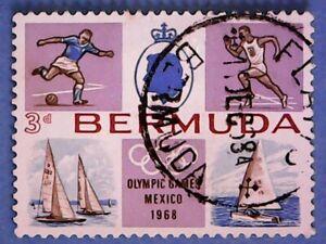 Bermuda. QE2 1968 3d Olympic Games, Mexico. SG220. Wmk Ww12. P12½. Used.