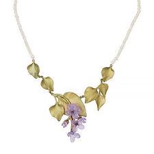"Lilac 18"" Adj. Multi Leaf Pearl Necklace by Michael Michaud #9107"