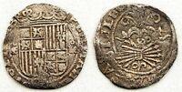 Spain-Reyes Catolicos. 1 Real. GRANADA. MBC/VF. Plata 3,3 g. CAL-327. RARA
