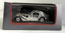 Atlas 1/43 Scale Bugatti Atlantic Chrome plated with wood display Diecast Car
