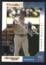 VERNON WELLS 2003 DONRUSS TEAM HEROES NATIONAL EMBOSSED BLUE JAYS SP #1/5