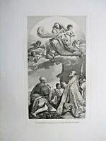 VERGINE IN GLORIA E I SANTI PETRONIO E ALO' - BULINO ORIGINALE F. ROSASPINA