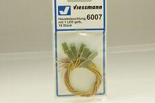 Viessmann 6007 Hausbeleuchtung mit LED gelb 10 Stück NEU und OVP