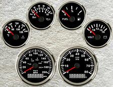 6 Gauge set,Speedometer,Tachometer,Fuel,Temp,Volt,Oil Pressure,9-32V,Universal