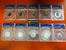 2018 S REVERSE PROOF SILVER ANACS RP70 FIRST STRIKE 10 COIN SET CENT KENNEDY ETC