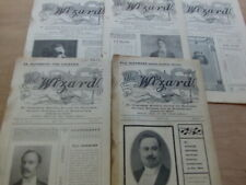Wizard Magazine Selbit 5 issues vol 2 no 17,18,23,21,19 1908