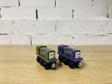 Dodge & Splatter - Thomas & Friends Wooden Railway Trains Rare As New