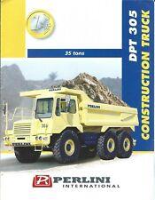 Equipment Brochure Perlini Dpt 305 Dump Haul Construction Truck E5226
