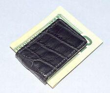 American Alligator Exotic Cash Clip New Alligator Money Clip Black Matte Genuine