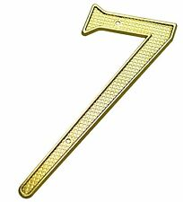 4 Inch Zinc Bright Brass Finish #7 House Numbers Home Address Plaque Number Sign