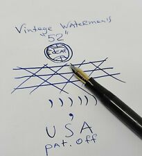 Vintage Waterman Ideal 52 Gold nib 750 18 K carats USA fountain pen