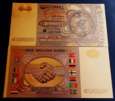Billet Or Polymère en couleur One Million € Euro Union Européenne Couleur