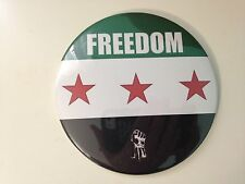 Opposition Free Syrian Army Syria Revolution Flag Freedom Round Pin