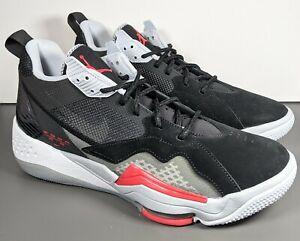 Air Jordan Nike Zoom 92 Basketball Sneakers Black Cement Black Red Men Size 11.5