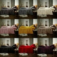 Teddy Fleece Luxury Duvet Quilt Cover Set Warm Soft Bedding Sets / Fitted Sheets