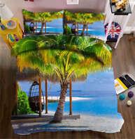 Tropical Coconut 3D Printing Duvet Quilt Doona Covers Pillow Case Bedding Sets