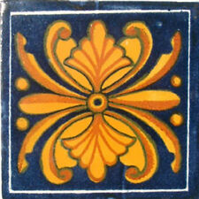 #C044) Mexican Tile sample Ceramic Handmade 4x4 inch, GET MANY AS YOU NEED !!