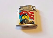 Flint Lighter Wicking Style Collectible with American Flag and Semi Truck