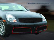 Fits 2005 2006 Infiniti G35 Sedan Black Billet Grille Bumper Grill Insert Fedar