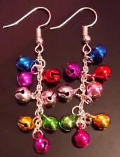 Christmas earrings baubles chandelier handmade
