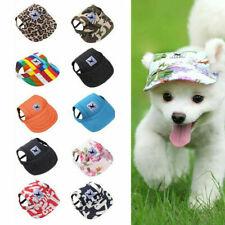 Canvas Summer Pet Small Dog Puppy Cat Baseball Visor Hat Cap Outdoor Sunbonnet