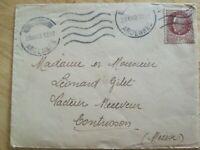 Enveloppe 1930 Ardennes Destinée Contrisson timbre Pétain