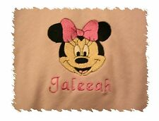 Personalized Baby Infant Toddler Blanket Minnie Mouse Big Bow