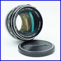 MINOLTA MD ROKKOR-PF 50mm f1.4 vintage lens obiettivo luminoso fisso 58mm bokeh