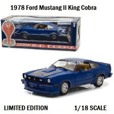 GREENLIGHT 1978 Ford Mustang II King Cobra Blue 1/18 Diecast 13507