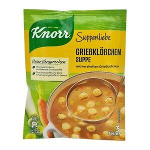 8x Knorr Suppenliebe 🍲 Grießklößchen Suppe semolina dumplings soup ✈TRACKED