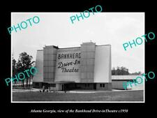OLD 8x6 HISTORIC PHOTO OF ATLANTA GEORGIA THE BANKHEAD DRIVE-IN THEATRE c1950