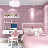 Waterpoof 3D Brick PE Soft Foam Self-Adhesive DIY Wall Sticker Room Home Decor