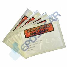 100 A6/C6 158mm x 110mm Printed Documents Enclosed Sticky Wallets Envelopes