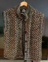 MISSONI Vest Gilet Wool Mohair Mix Size Small New Without Tags