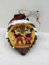 Walt Disney World Mickey & Minnie Mouse Pinecone Christmas Ornament Season's Gre