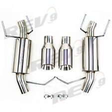 For Ford Mustang 11-14 V6 3.7 2.5″ Dual Axle Catback Exhaust Stainless Pipe Kit